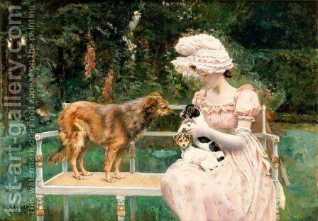 Introductions by Charles Henry Tenre - Reproduction Oil Painting