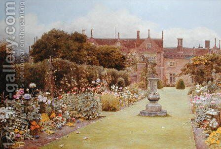 The Grass Walk, Helmingham Hall, 1892 by Henry Terry - Reproduction Oil Painting