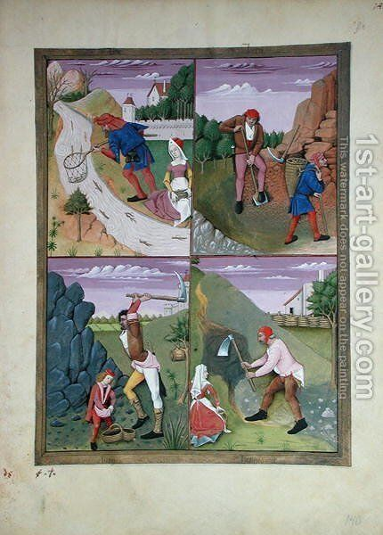 Illustration from the Book of Simple Medicines by Mattheaus Platearius d.c.1161 c.1470 44 by Robinet Testard - Reproduction Oil Painting