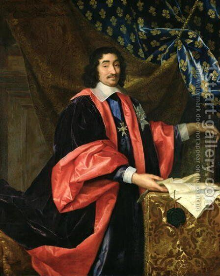 Pierre Seguier 1588-1672 Chancellor of France, c.1668 by Henri Testelin - Reproduction Oil Painting