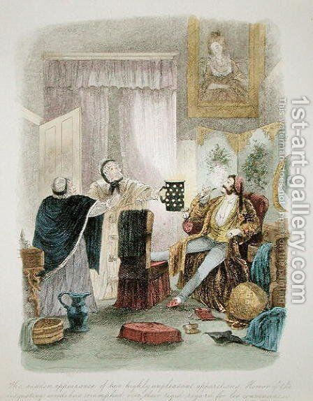 Illustration from Visitation of a London Exquisite to his Maiden Aunts in the Country, published 1859 3 by Theo - Reproduction Oil Painting