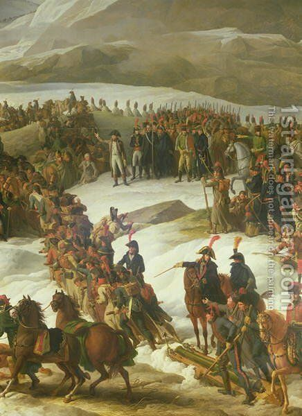 The French Army Crossing the St. Bernard Pass, 20th May 1800, 1806 by Charles Thevenin - Reproduction Oil Painting