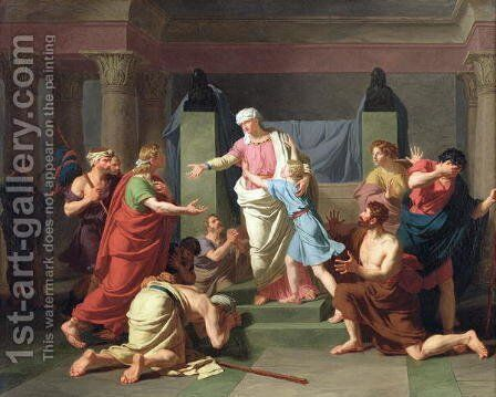 Joseph Recognised by his Brothers, 1789 by Charles Thevenin - Reproduction Oil Painting