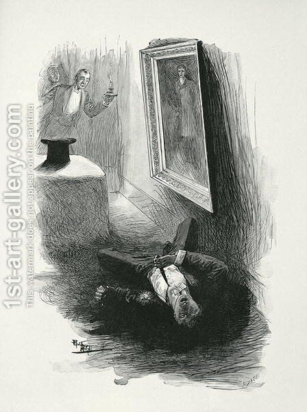 Illustration from The Picture of Dorian Gray by Oscar Wilde 1854-1900, engraved by E. dEte 2 by (after) Thiriat, Paul - Reproduction Oil Painting
