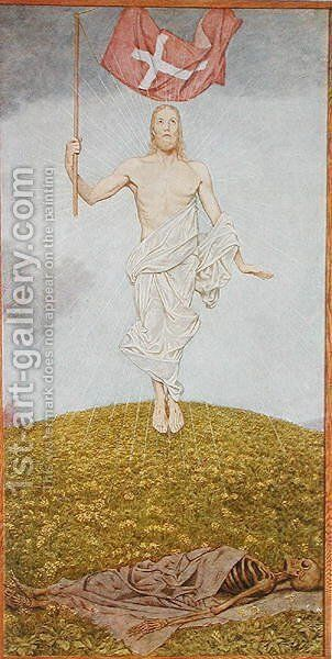 The Resurrection of Christ, illustration from Festkalender published in Leipzig c.1910 by Hans Thoma - Reproduction Oil Painting