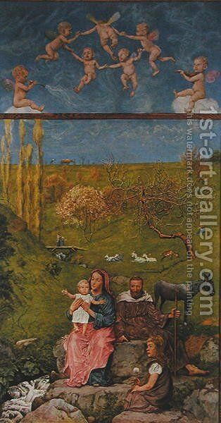 Resting during the flight into Egypt, illustration from Festkalender published in Leipzig c.1910 by Hans Thoma - Reproduction Oil Painting