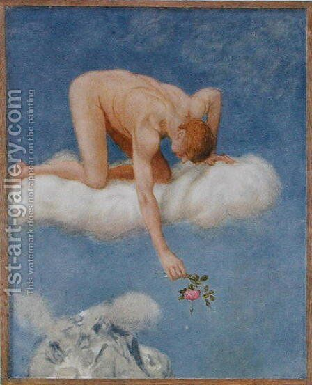 June, illustration from Festkalender published in Leipzig c.1910 by Hans Thoma - Reproduction Oil Painting