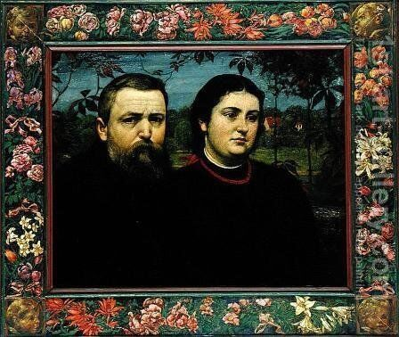 The Artist with his Wife Bonicella, 1887 by Hans Thoma - Reproduction Oil Painting