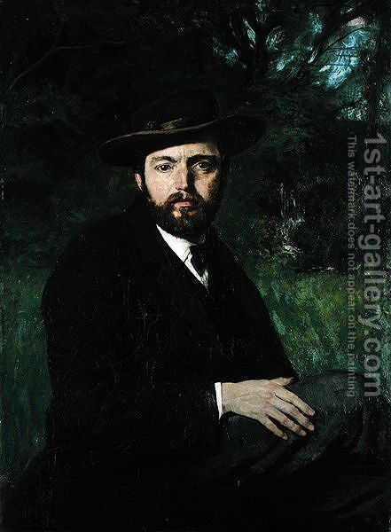 Self Portrait, 1871 by Hans Thoma - Reproduction Oil Painting