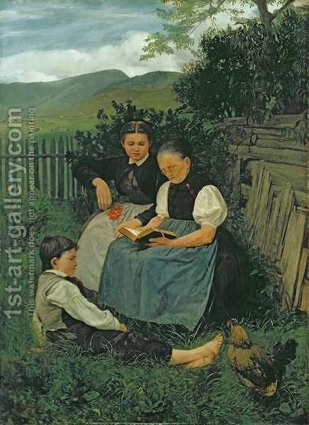 The End of the Day, 1868 by Hans Thoma - Reproduction Oil Painting