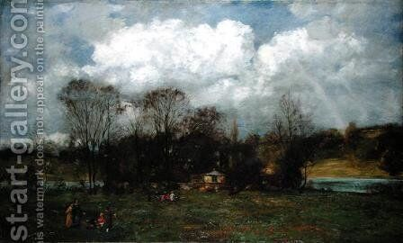 Early Spring, c.1868 by Hans Thoma - Reproduction Oil Painting