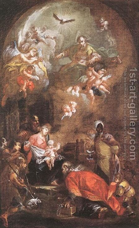 Krisztus szuletese, 1772 by Istvan Dorffmaister - Reproduction Oil Painting