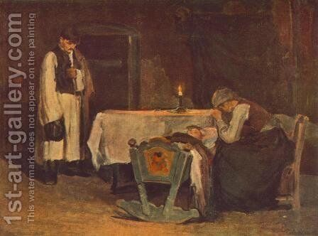 Bolcso mellett, 1905 by Bela Endre - Reproduction Oil Painting