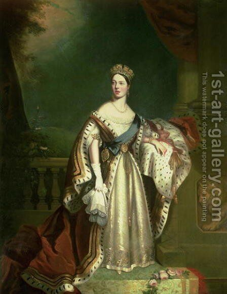 Queen Victoria 1819-1901 1867 by Jacob Thompson - Reproduction Oil Painting