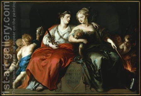 Allegory of Peace and Justice after the Thirty Years War, 1649 by Theodor Van Thulden - Reproduction Oil Painting
