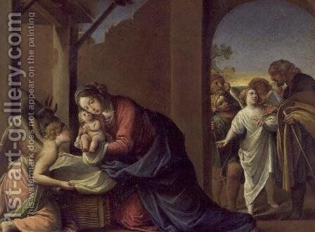Nativity, 1600-10 by Alessandro Tiarini - Reproduction Oil Painting