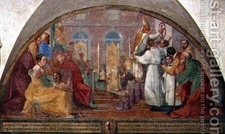Pope Eugene IV Consecrating the convent of San Marco in 1442 by Alessandro Tiarini - Reproduction Oil Painting