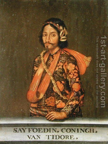 Saifuddin, 1650-1700 by Coningh van Tidore - Reproduction Oil Painting