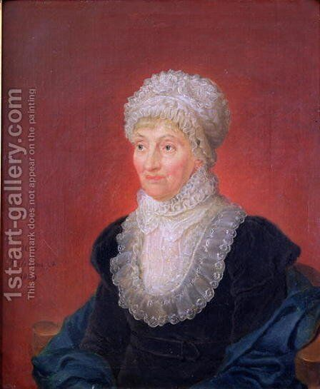 Caroline Herschel 1750-1848, 1829 by Martin Francois Tielemans - Reproduction Oil Painting