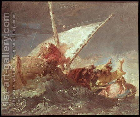 Christ on the Lake of Tiberias by Giovanni Domenico Tiepolo - Reproduction Oil Painting