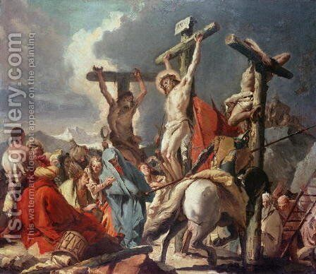 Christ on the Cross by Giovanni Domenico Tiepolo - Reproduction Oil Painting