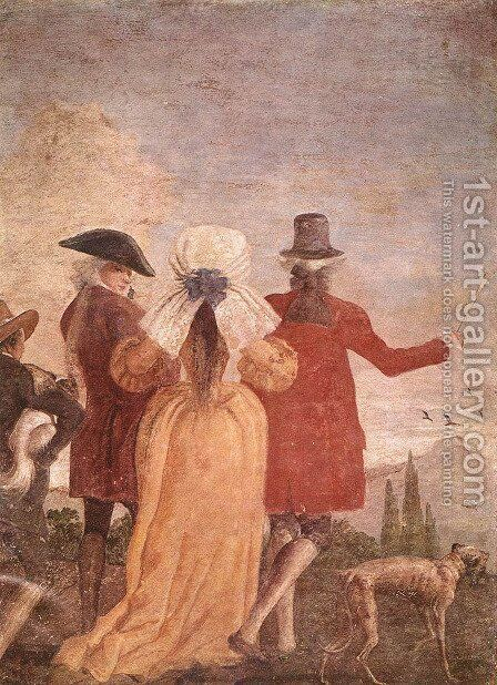 The Walk, c.1791 by Giovanni Domenico Tiepolo - Reproduction Oil Painting