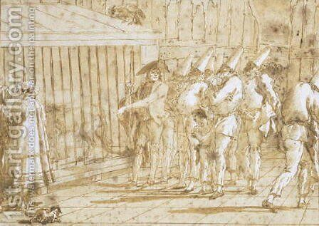The Lions Cage, c.1800 by Giovanni Domenico Tiepolo - Reproduction Oil Painting