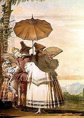The Summer Promenade, c.1757 by Giovanni Domenico Tiepolo - Reproduction Oil Painting