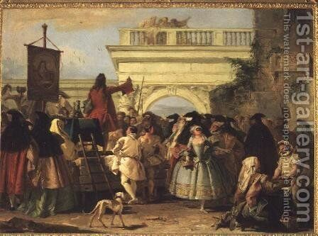 The Charlatan by Giovanni Domenico Tiepolo - Reproduction Oil Painting