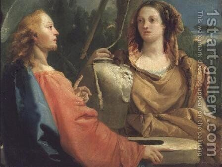 Christ and the Samaritan woman by Giovanni Domenico Tiepolo - Reproduction Oil Painting