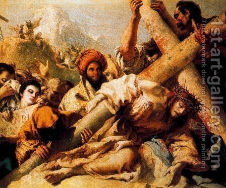 Christs Fall on the way to Calvary, 1772 by Giovanni Domenico Tiepolo - Reproduction Oil Painting