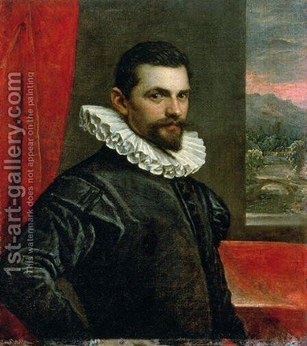Portrait of Francesco Bassano 1549-92 by Domenico Tintoretto (Robusti) - Reproduction Oil Painting