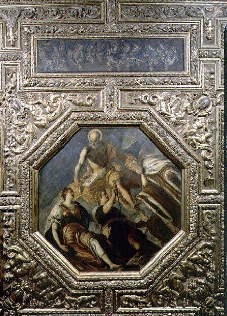 Doge G. Priuli Receiving Justice, 1567 by Domenico Tintoretto (Robusti) - Reproduction Oil Painting