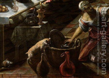 The Last Supper, 1594 by Domenico Tintoretto (Robusti) - Reproduction Oil Painting