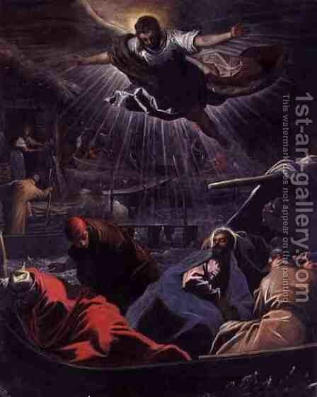 The Dream of St. Mark by Domenico Tintoretto (Robusti) - Reproduction Oil Painting