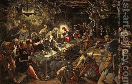 The Last Supper, 1594 2 by Domenico Tintoretto (Robusti) - Reproduction Oil Painting