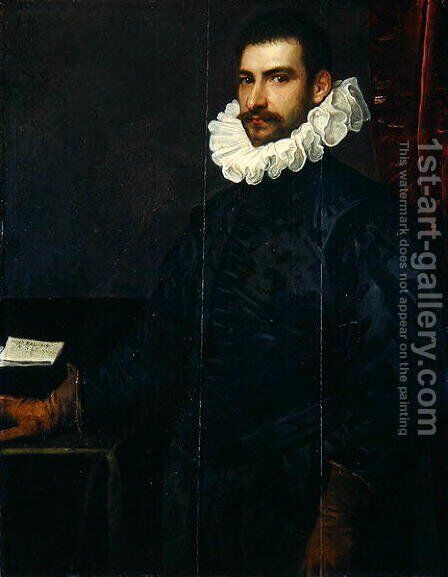 Portrait of a Young Man by Domenico Tintoretto (Robusti) - Reproduction Oil Painting