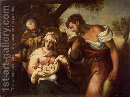 The Adoration of the Shepherds by Domenico Tintoretto (Robusti) - Reproduction Oil Painting