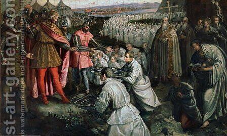 The Surrender of Zara by Domenico Tintoretto (Robusti) - Reproduction Oil Painting