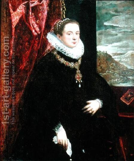 Portrait of a Lady in Black by Domenico Tintoretto (Robusti) - Reproduction Oil Painting
