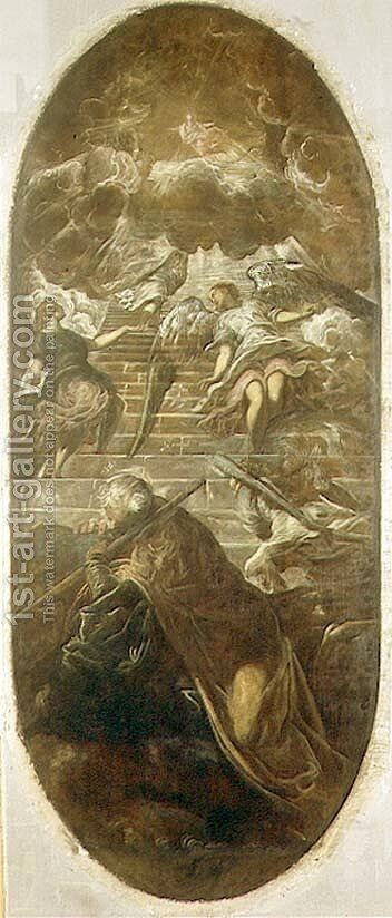 Jacobs Ladder by Domenico Tintoretto (Robusti) - Reproduction Oil Painting