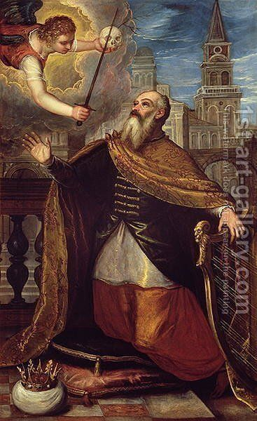 David by Domenico Tintoretto (Robusti) - Reproduction Oil Painting