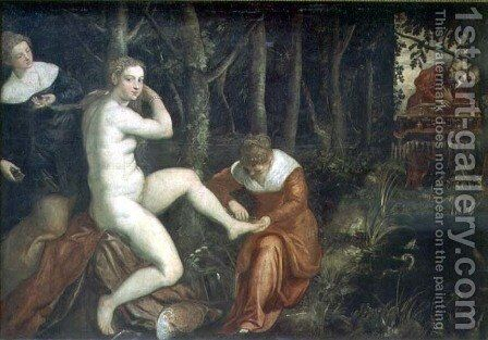 Susanna and the Elders by Domenico Tintoretto (Robusti) - Reproduction Oil Painting