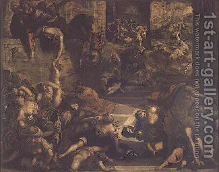 The Massacre of the Innocents by Domenico Tintoretto (Robusti) - Reproduction Oil Painting