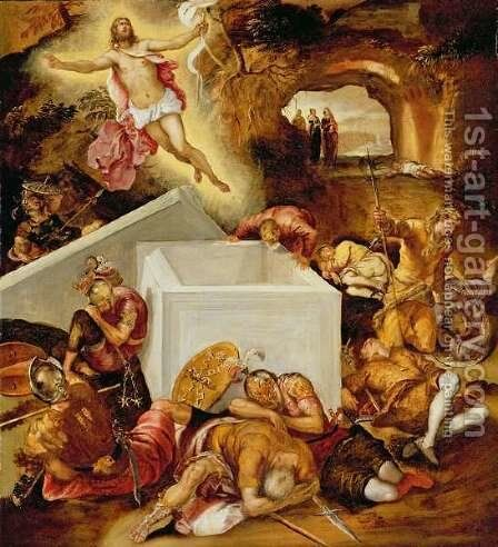The Resurrection of Christ by Jacopo Tintoretto (Robusti) - Reproduction Oil Painting