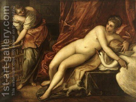 Leda and the Swan, c.1570 by Jacopo Tintoretto (Robusti) - Reproduction Oil Painting