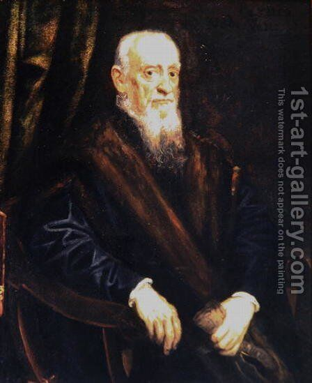 Portrait of an Elderly Gentleman, c.1575 by Jacopo Tintoretto (Robusti) - Reproduction Oil Painting