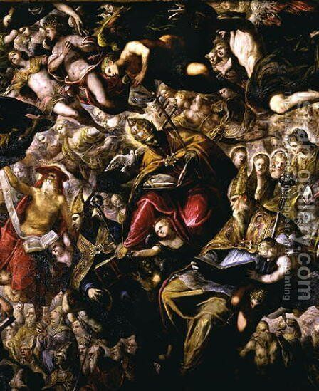 Paradise 2 by Jacopo Tintoretto (Robusti) - Reproduction Oil Painting