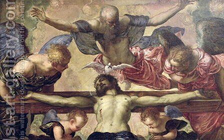 The Trinity by Jacopo Tintoretto (Robusti) - Reproduction Oil Painting