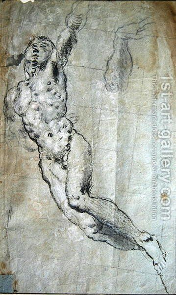 Study for the body of St. George by Jacopo Tintoretto (Robusti) - Reproduction Oil Painting